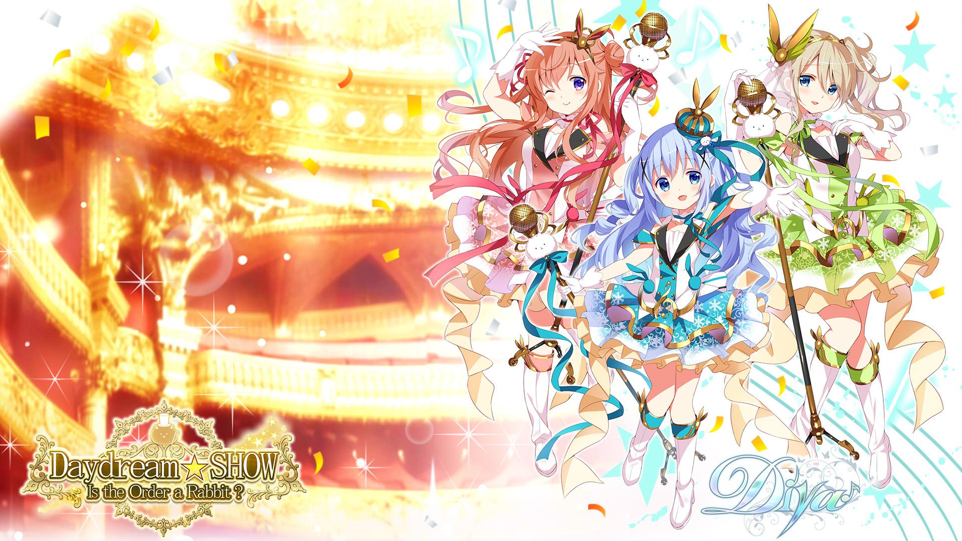 ごちうさ:喫茶店アイドル育成ゲームDaydream☆SHOW-7-壁紙-チノモカ青山