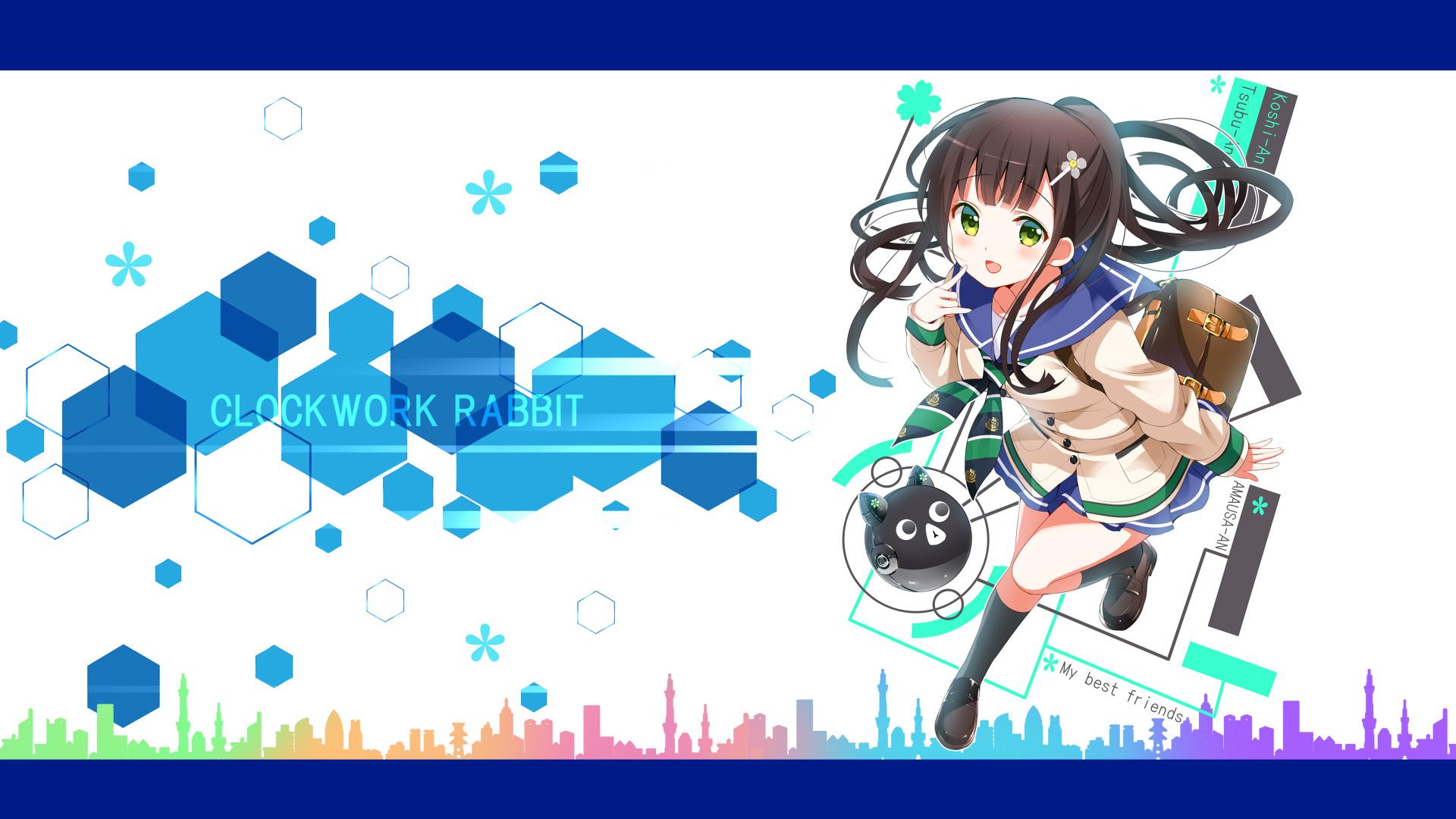 ご注文はうさぎですか?:CLOCK WORKS RABBIT-壁紙-千夜_pc